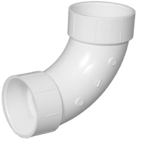 Charlotte Pipe 1-1/2-in Dia 90-Degree PVC Elbow Long Sweep Fitting