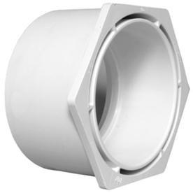 Charlotte Pipe 4-in x 3-in dia PVC Flush Bushing Fitting