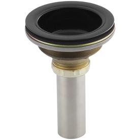 KOHLER Black Black Lift and Turn Decorative Sink Drain